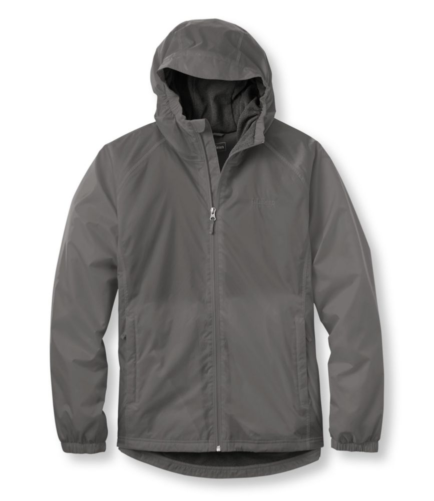 photo: L.L.Bean Men's Discovery Rain Jacket, Fleece-Lined