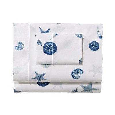 Seashell Percale Pillowcases, Set of Two