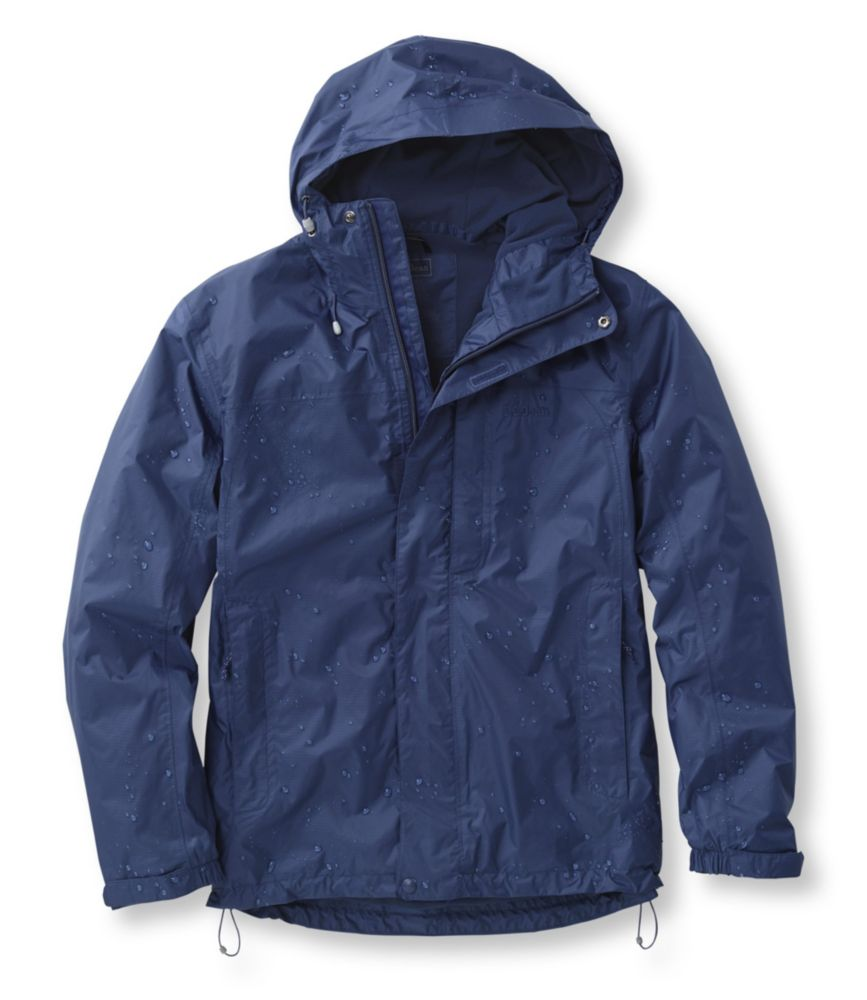 photo: L.L.Bean Men's Trail Model Rain Jacket, Fleece-Lined