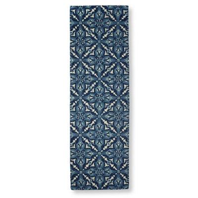 "Wool Hooked Runner, Mosaic 2'6""x8'"