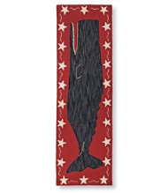 "Wool Hooked Runner, 2'6"" x 8' Black Whale"