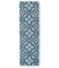 "Easy-Care Hooked Mosaic Tiles Runner, 2'3"" x 7'6"""