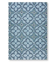 Easy-Care Hooked Mosaic Tile Rug