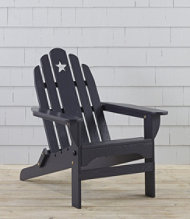 Wooden Adirondack Chair, Star Cutout