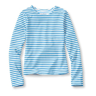 Girls' Sun-and-Surf Shirt, Long-Sleeve Stripe
