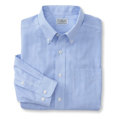 Wrinkle-Resistant Vacationland Sport Shirt, Slim Fit Mini Check