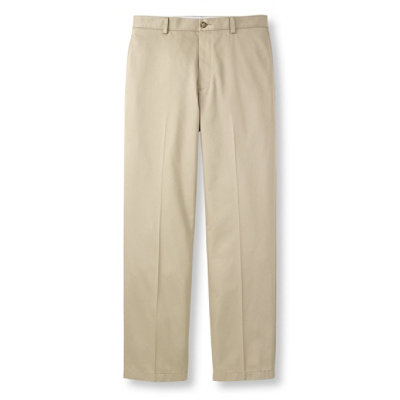 Wrinkle-Resistant Lightweight Chinos, Natural Fit Plain Front