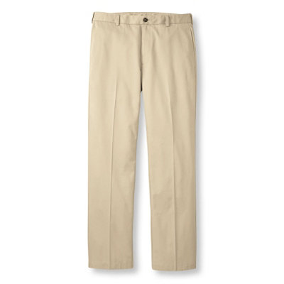 Wrinkle-Resistant Lightweight Chinos, Standard Fit Plain Front