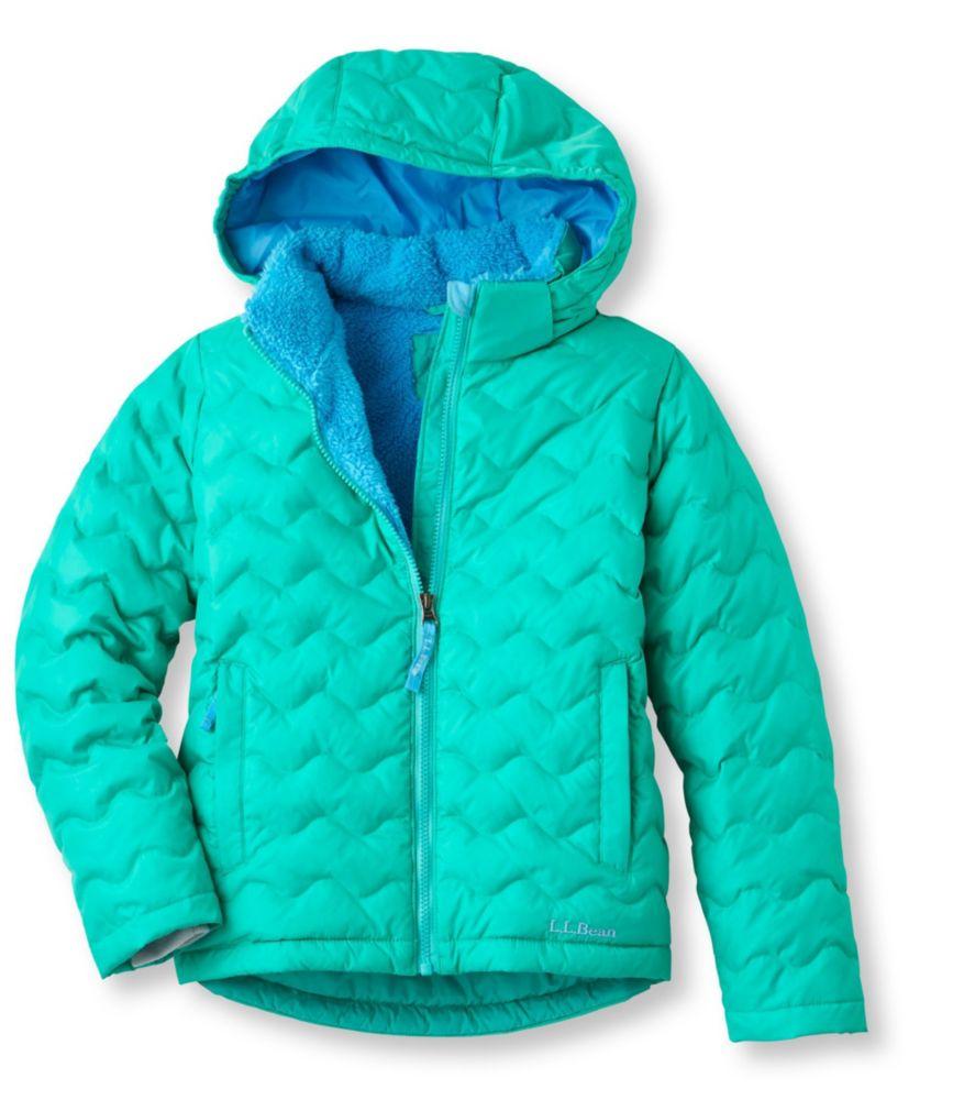 photo: L.L.Bean Girls' Fleece-Lined Down Jacket