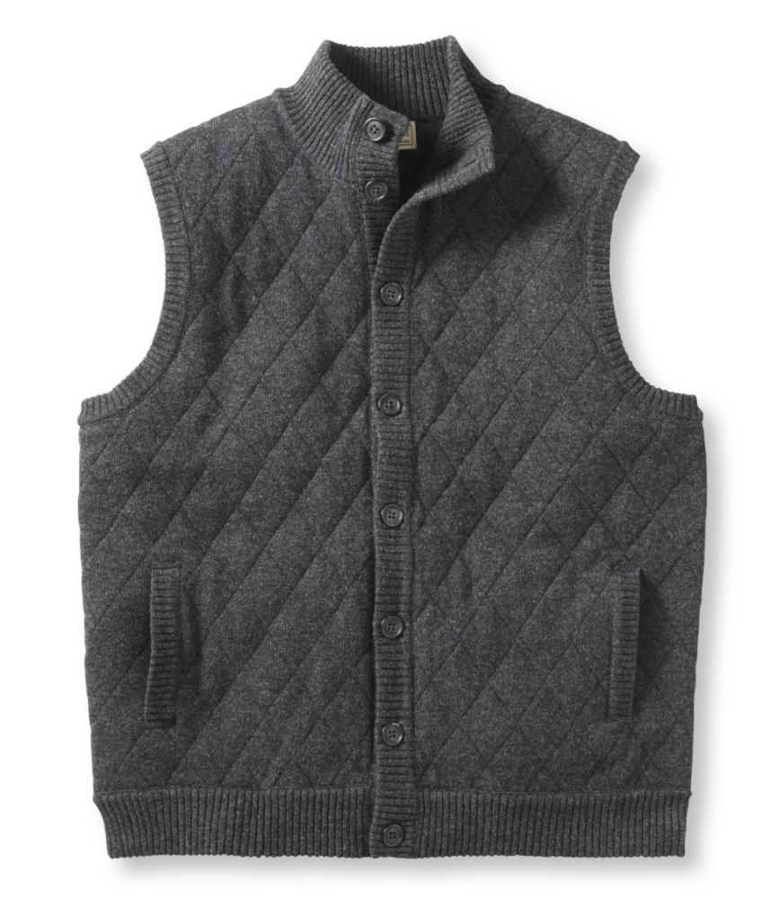 photo: L.L.Bean Lambswool Sweater, Quilted Vest