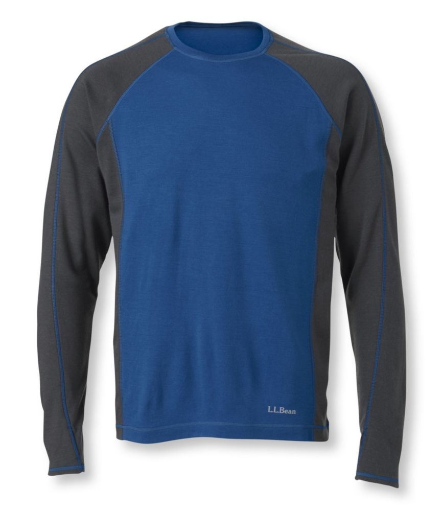 photo: L.L.Bean Men's Cresta Wool Midweight Base Layer, Crew