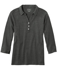 Women's Three-Quarter-Sleeve Interlock Polo