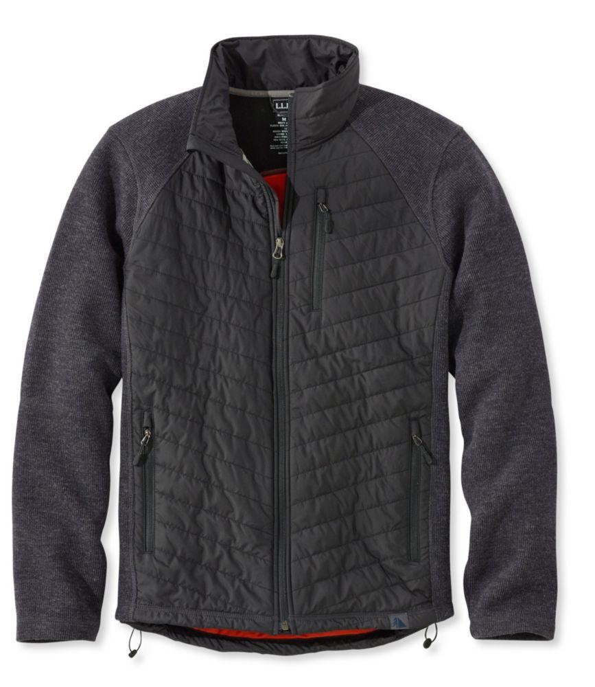 L.L.Bean Wool Tek Mixed Media Jacket