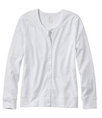 Women's Pima Long-Sleeve Button-Front Cardigan