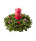 Traditional Balsam Candle Centerpiece, Small